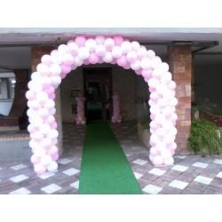 Ballon Art archi e colonne Bianco e Rosa