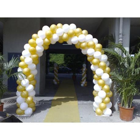 Ballon Art archi e colonne Bianco e Oro