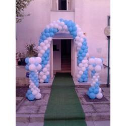 Ballon Art archi e colonne Bianco e Celeste